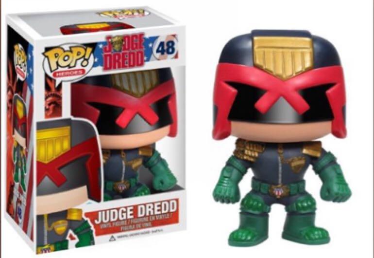 Judge Dredd Funko - POP! Heroes (48) back image (back cover, second image)