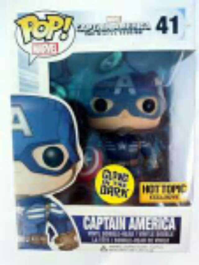 Captain America Funko - POP! Marvel (41) back image (back cover, second image)