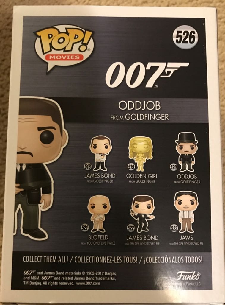 Odd Job From Goldfinger Funko - POP! Movies (526) - from
