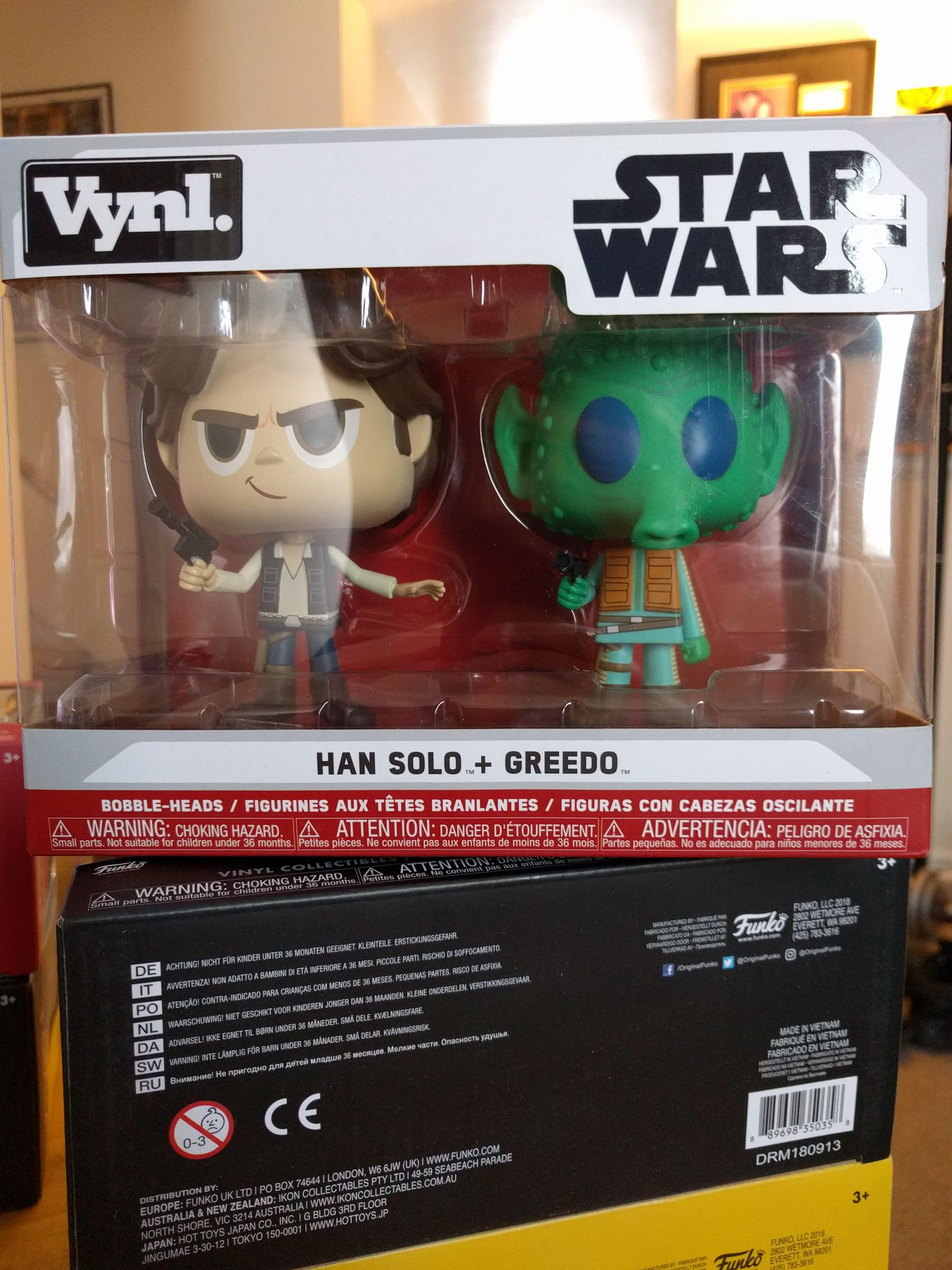 Han Solo + Greedo Funko - Vynl front image (front cover)