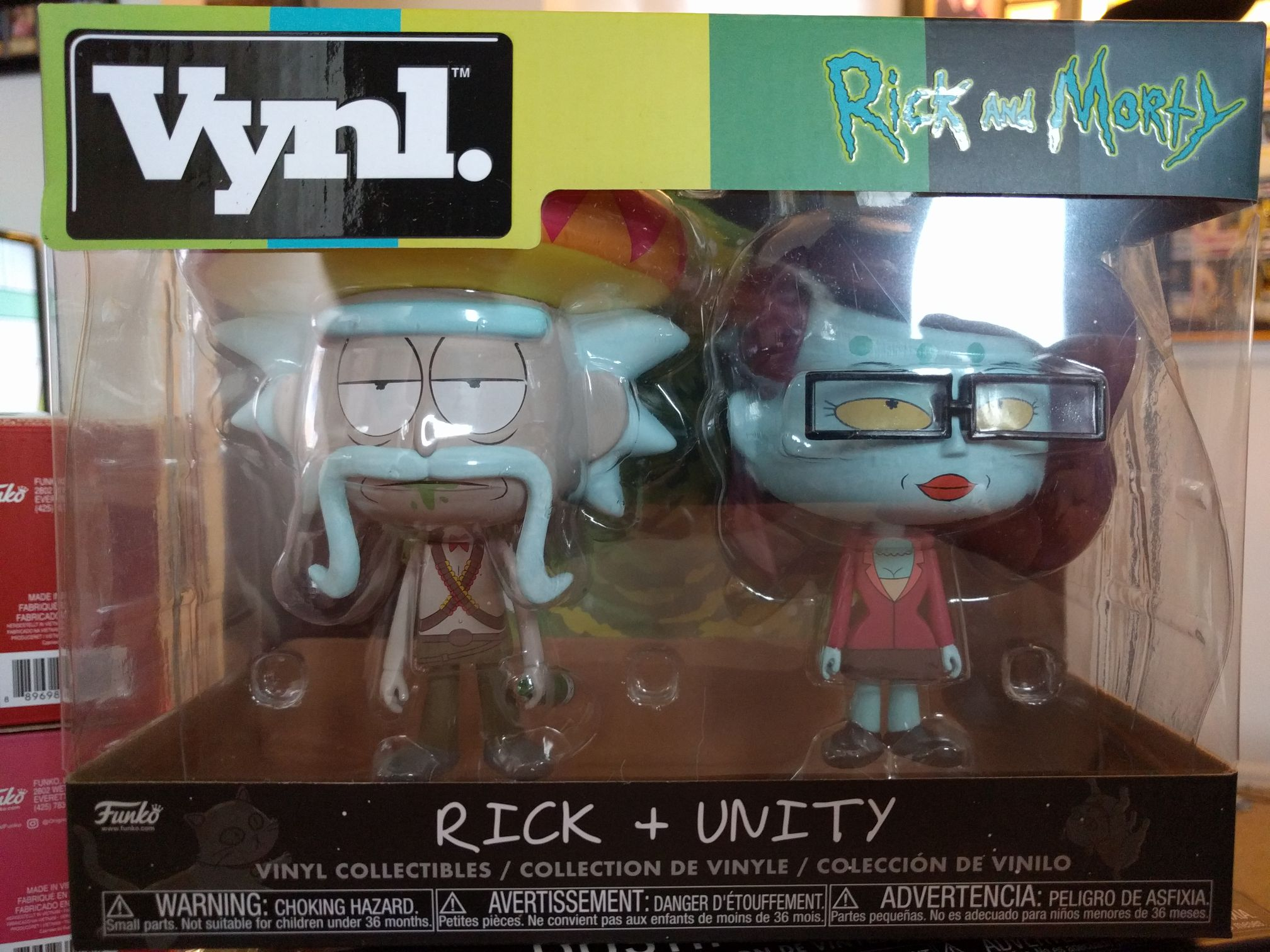 Rick + Unity Funko - Vynl front image (front cover)