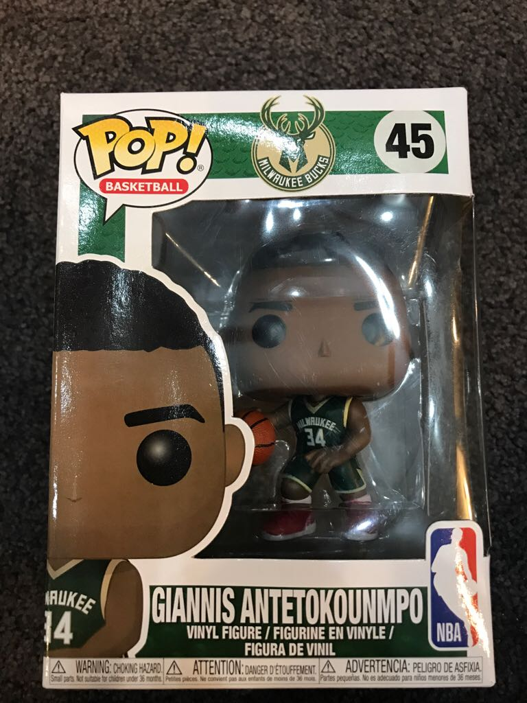 Giannis Antetokunmpo Funko - POP! Basketball (45) front image (front cover)