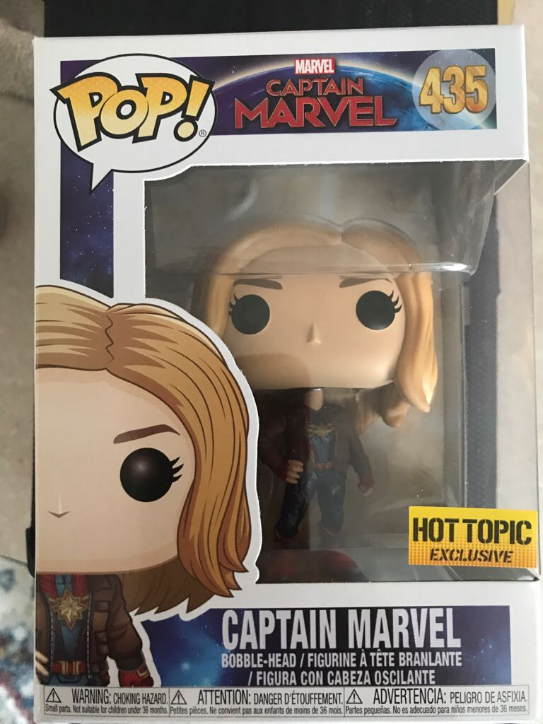 Captain Marvel Funko - POP! Marvel (435) front image (front cover)