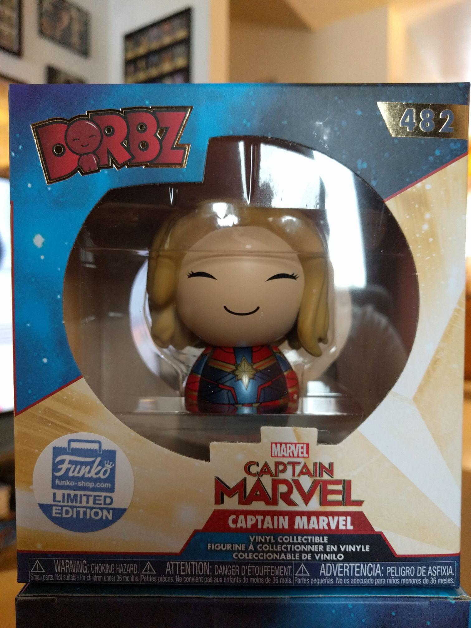 Captain Marvel Funko - Dorbz (482) front image (front cover)