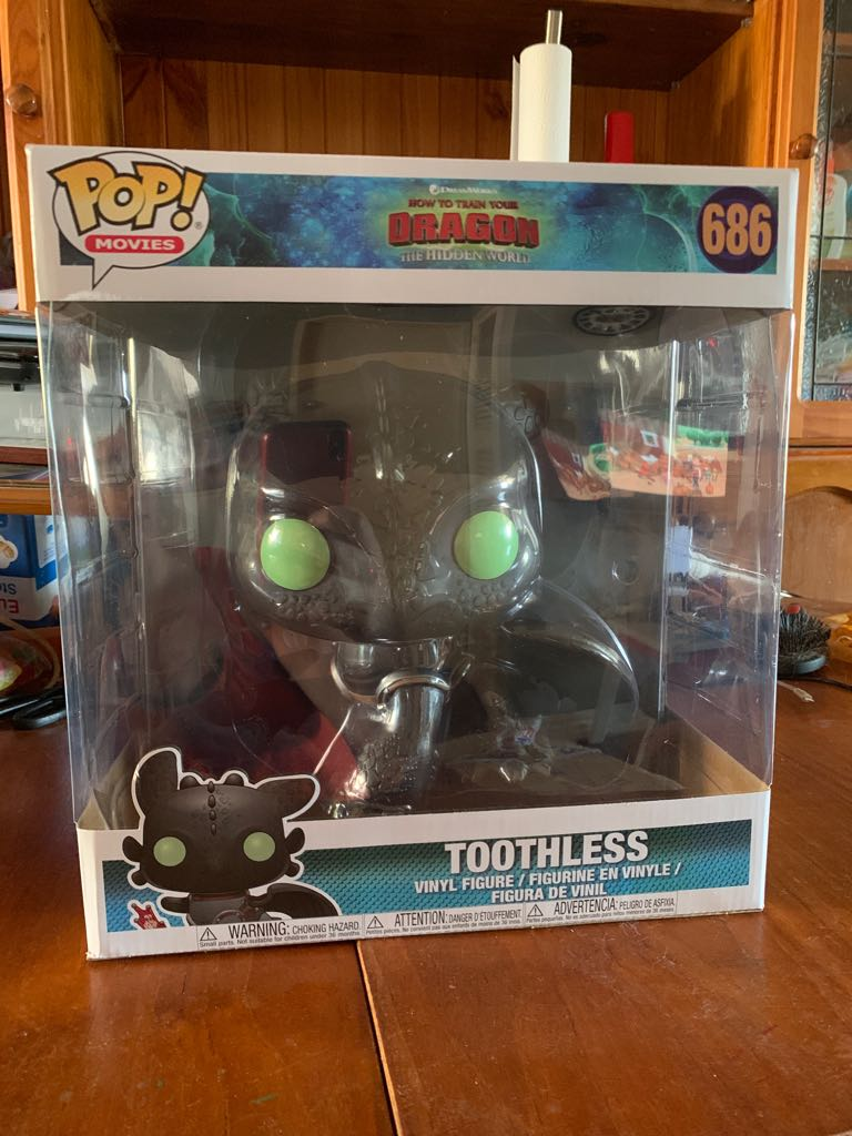 Big Toothless 686 Funko - POP! Movies (686) front image (front cover)