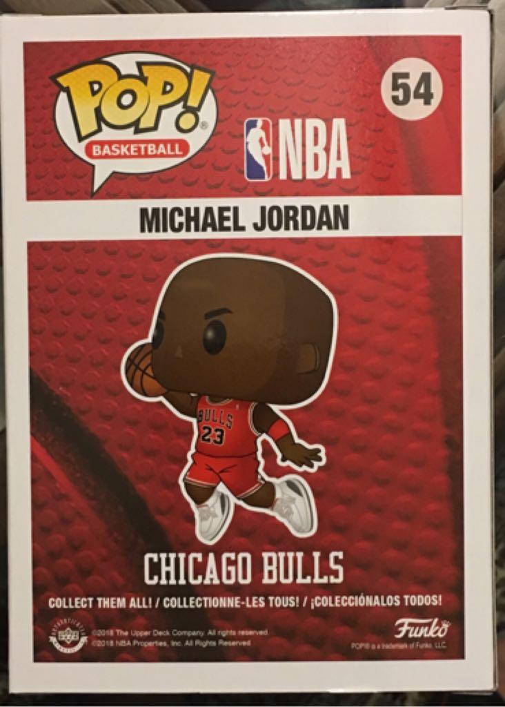 Michael Jordan - Slam Dunk Funko - Pop! Basketball (54) back image (back cover, second image)