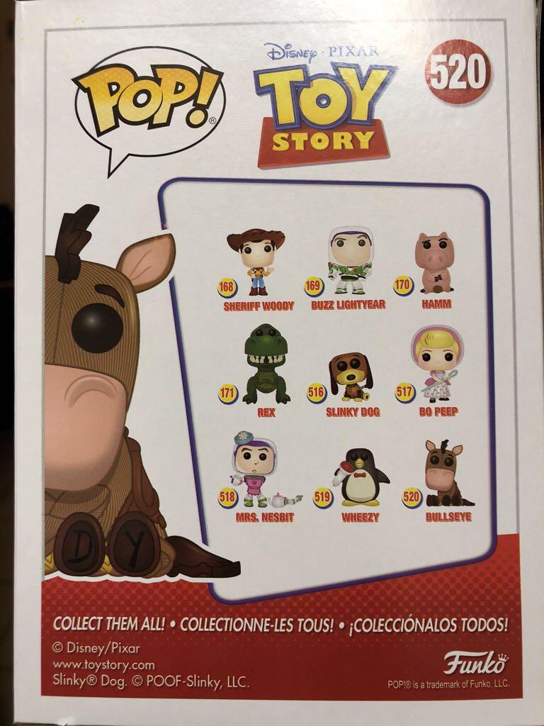 Bullseye Funko - POP! Disney (520) back image (back cover, second image)