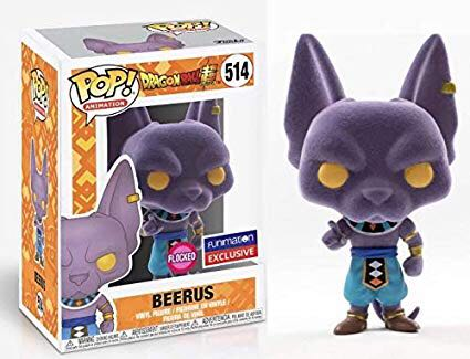Beerus (Flocked) Funko - POP! Animation (514) front image (front cover)