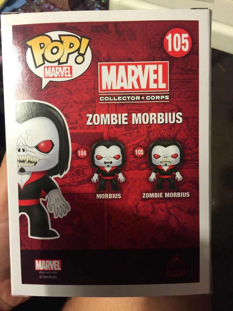Zombie Morbius >> Zombie Morbius Funko Pop Marvel 105 From Sort It Apps