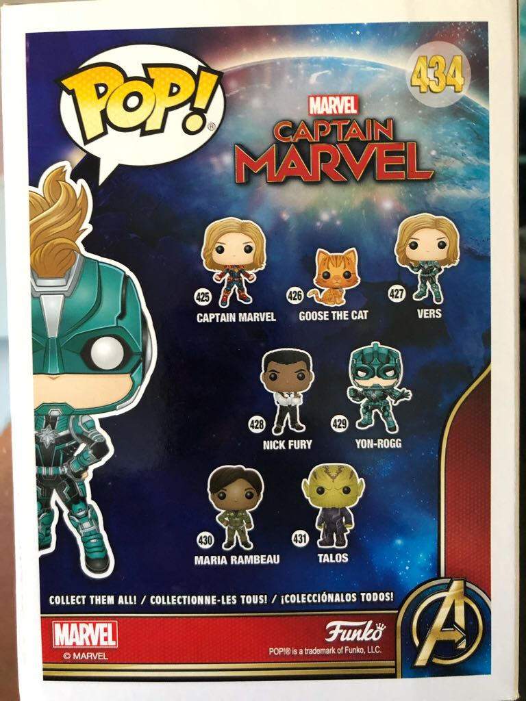 Captain Marvel: Vers (GameStop) Funko - POP! Movies (434) back image (back cover, second image)