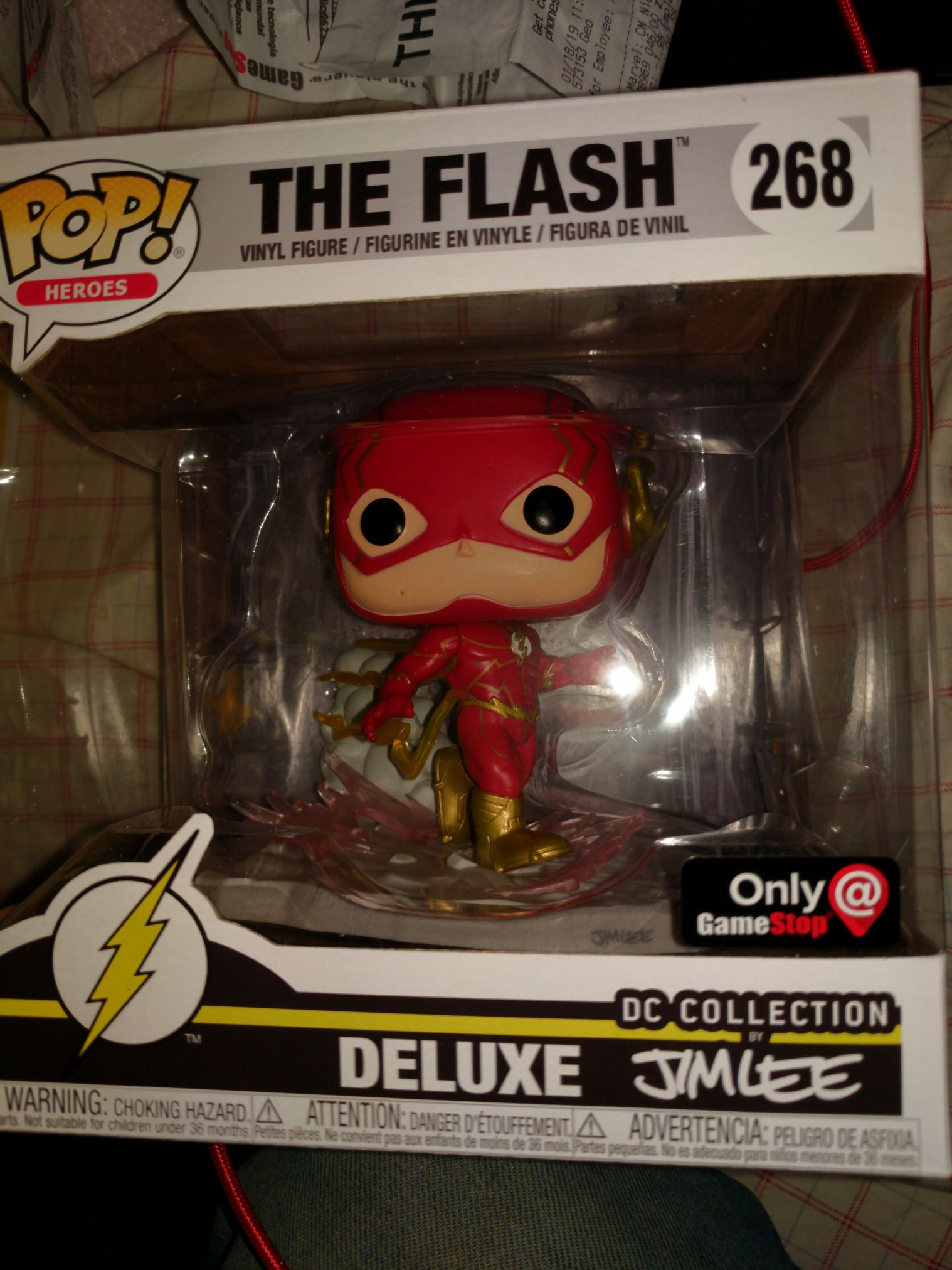 Jim Lee The Flash Funko - POP! Heroes (268) front image (front cover)