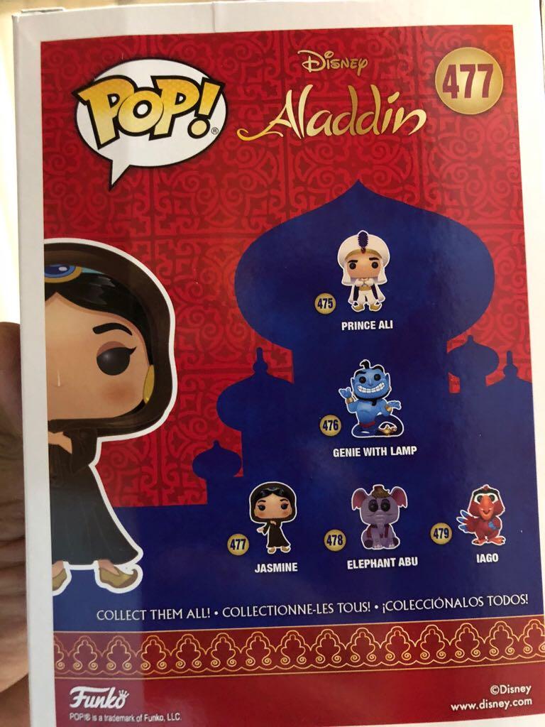 Jasmine (Chaser) Funko - POP! Disney (477) back image (back cover, second image)