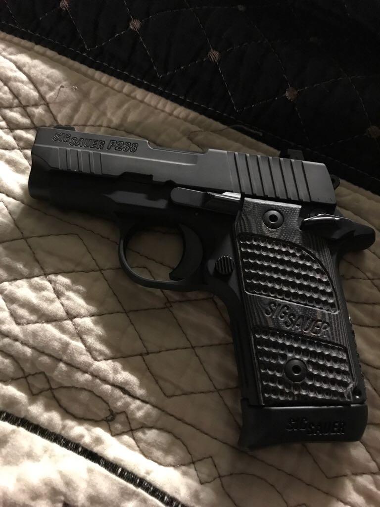 Sig Sauer P238 Texas Flag 380 Gun - Sig Sauer (Semi-automatic Pistol) back image (back cover, second image)