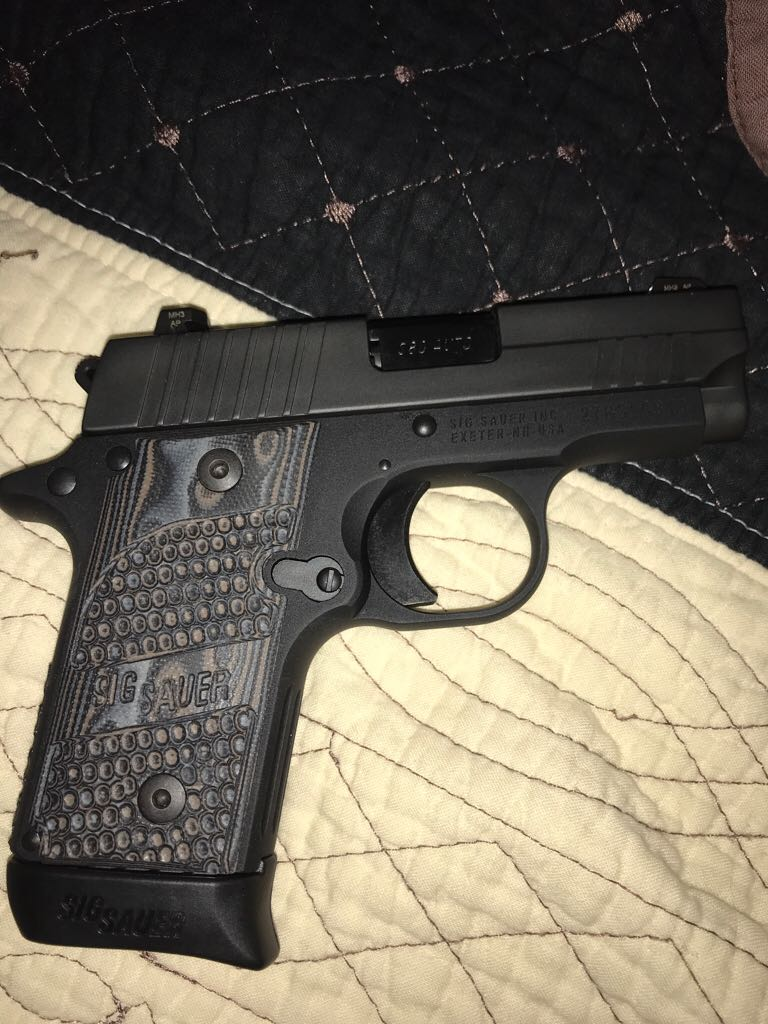 Sig Sauer P238 Texas Flag 380 Gun - Sig Sauer (Semi-automatic Pistol) front image (front cover)