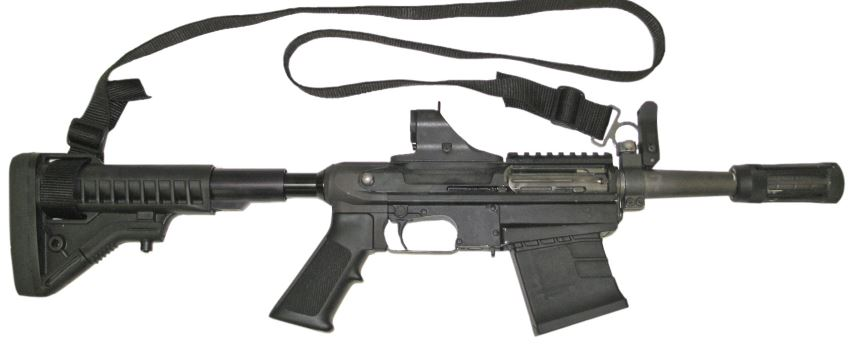 M26 MASS (fits under AR) Gun - C-More (Semi-automatic Shotgun) front image (front cover)