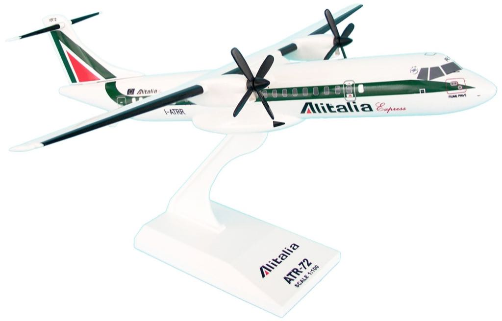 Daron Skymarks Alitalia ATR-72-500 SKR501 1/100 Toy Car, Die Cast, And Hot Wheels - ATR-72-500 front image (front cover)