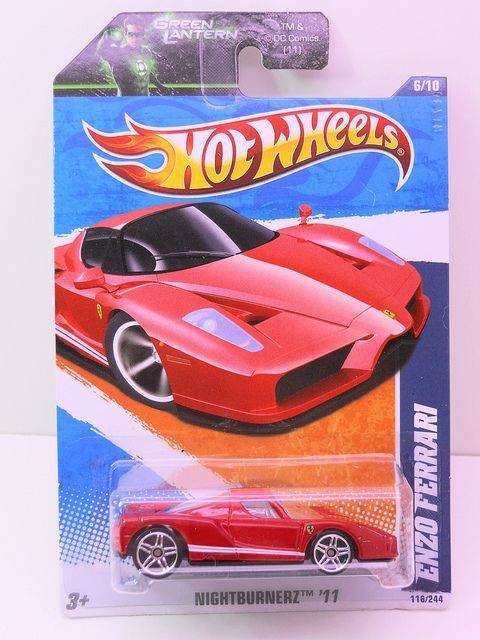 Enzo Ferrari Toy Car, Die Cast, And Hot Wheels - Enzo Ferrari (2011) back image (back cover, second image)