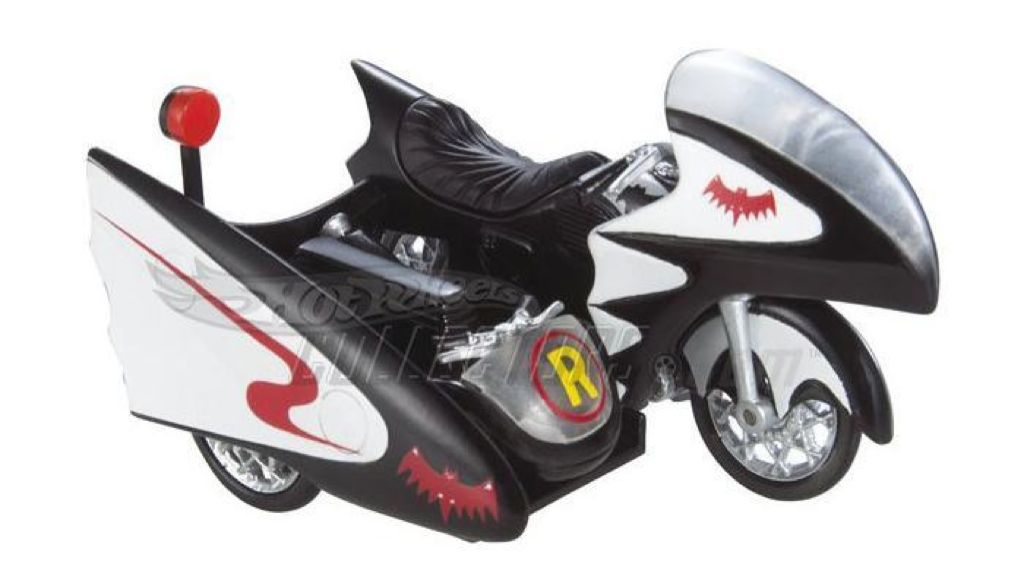 1966 TV Series Batcycle Toy Car, Die Cast, And Hot Wheels - M7098 (2015) front image (front cover)