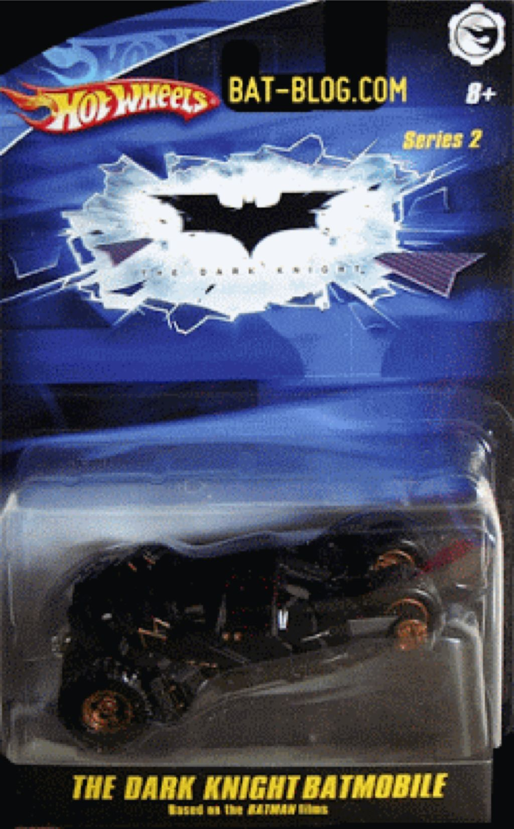 The Dark Knight Batmobile (Tumbler) Toy Car, Die Cast, And Hot Wheels - M7099-0980 (2008) back image (back cover, second image)