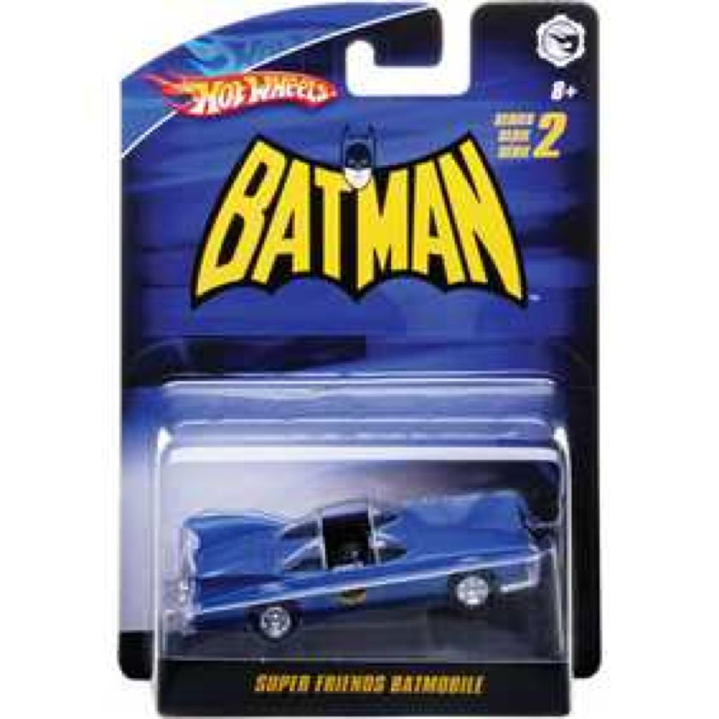 Super Friends Batmobile™ Toy Car, Die Cast, And Hot Wheels - N8015 (2009) back image (back cover, second image)