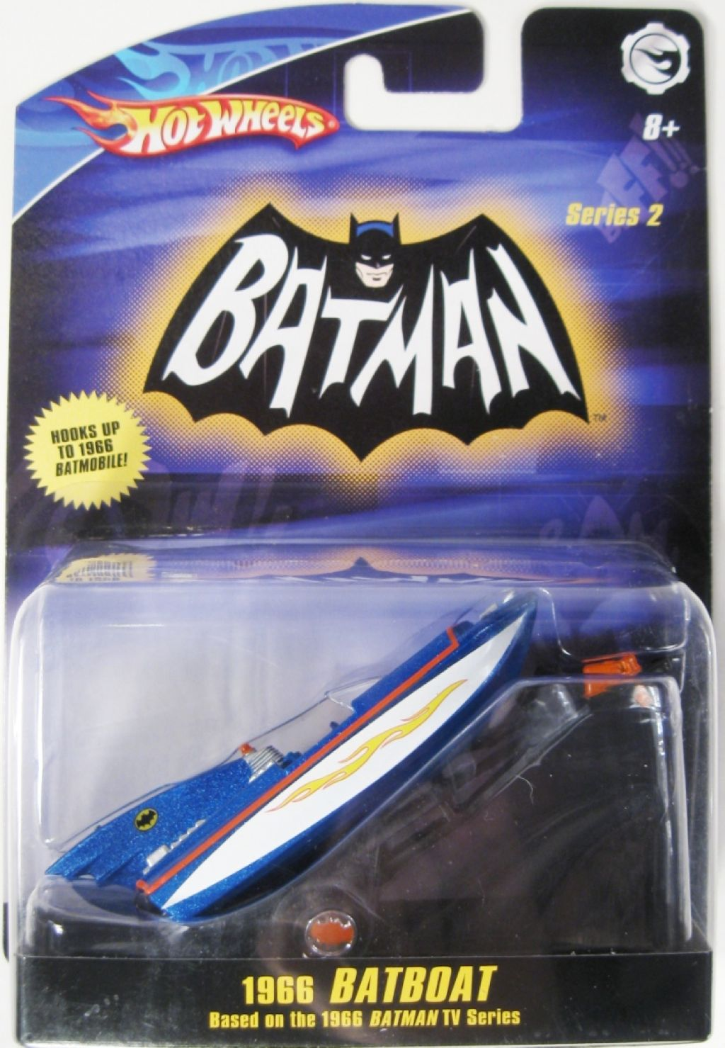 1966 TV Series Batboat™ Toy Car, Die Cast, And Hot Wheels - N8016 (2009) back image (back cover, second image)