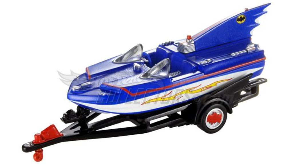 1966 TV Series Batboat™ Toy Car, Die Cast, And Hot Wheels - N8016 (2009) front image (front cover)