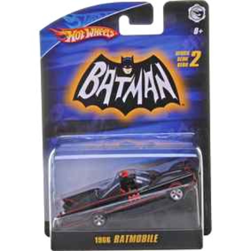 1966 TV Series Batmobile™ (with hitch) Toy Car, Die Cast, And Hot Wheels - N8017 (2009) back image (back cover, second image)