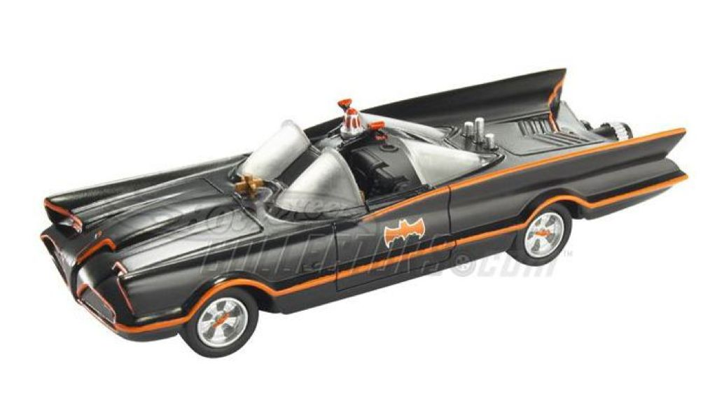 1966 TV Series Batmobile™ (with hitch) Toy Car, Die Cast, And Hot Wheels - N8017 (2009) front image (front cover)