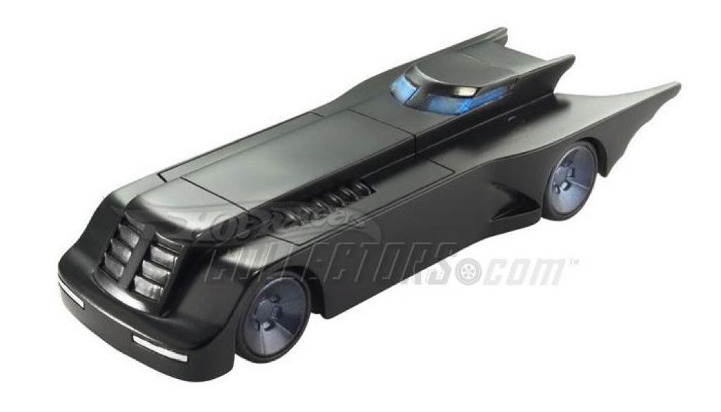 Animated Series Batmobile™ (with battle damage) Toy Car, Die Cast, And Hot Wheels - P4408 (2009) front image (front cover)
