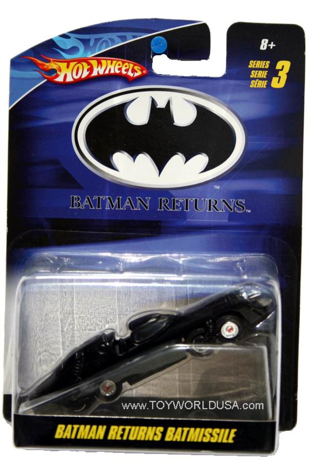 Batman™ Returns Batmissile™ Toy Car, Die Cast, And Hot Wheels - R5383 (2010) back image (back cover, second image)