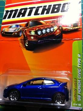 Matchbox Honda Civic Type R Toy Car Die Cast And Hot Wheels 2008