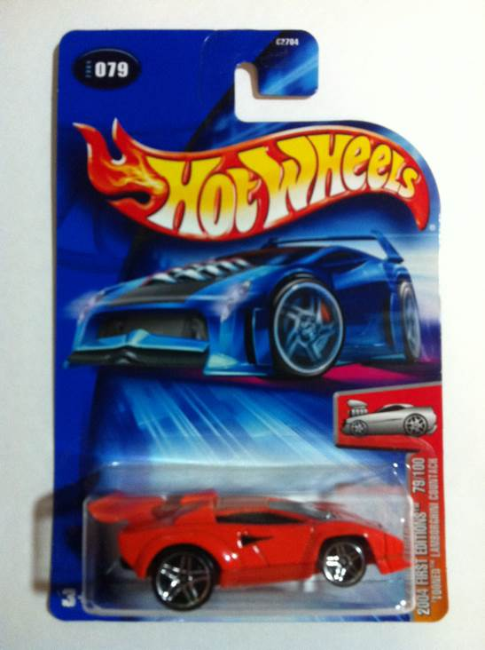 Tooned Lamborghini Countach Toy Car Die Cast And Hot Wheels