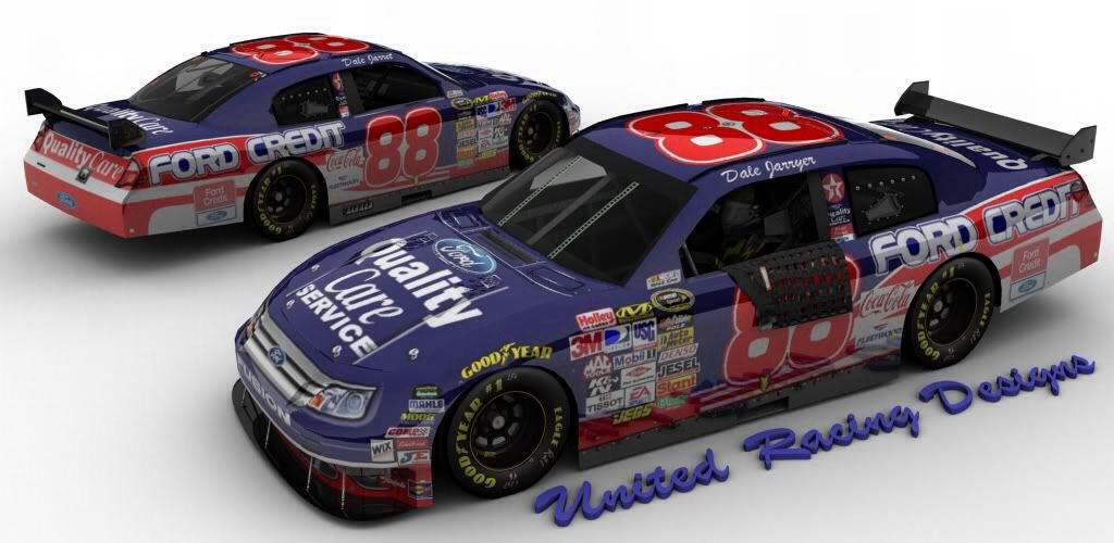 Dale Jarrett #88 Ford Quality Care Ford Credit Toy Car, Die
