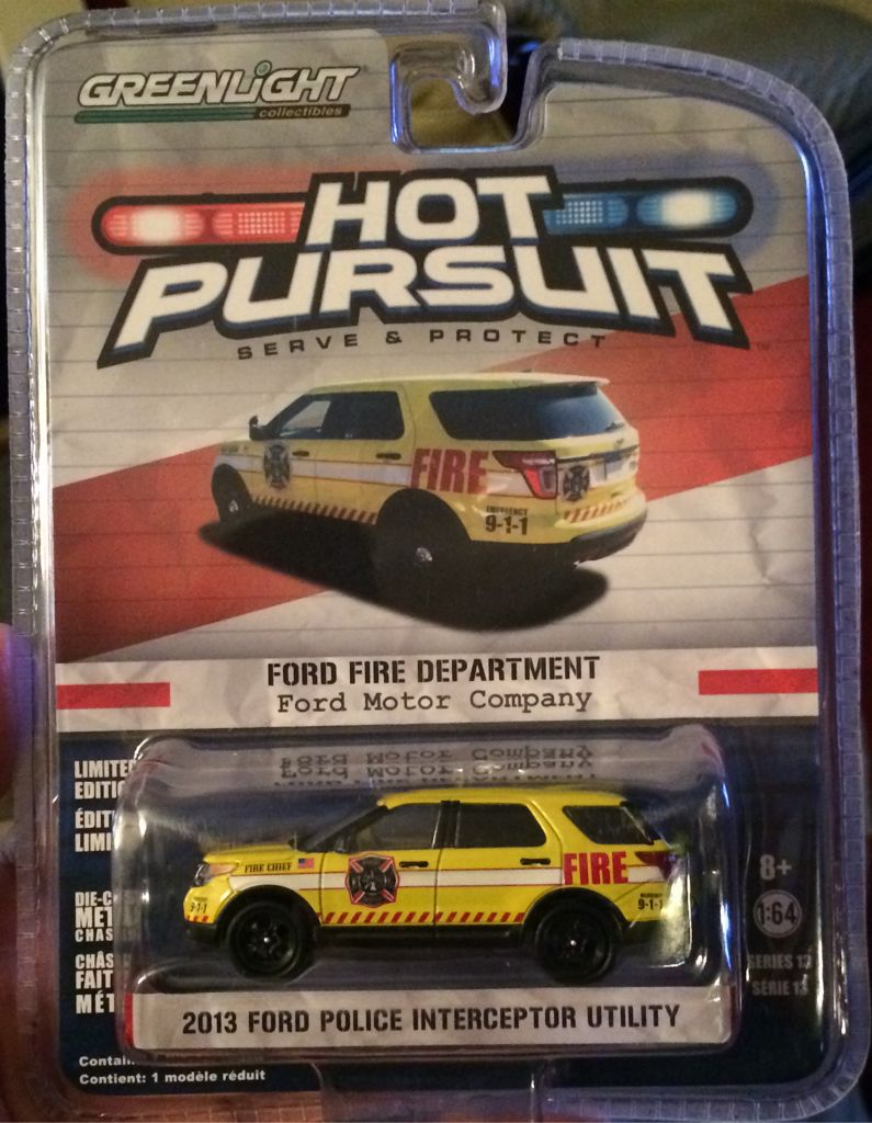 Greenlight 2013 Ford Police Interceptor Utility Toy Car ...