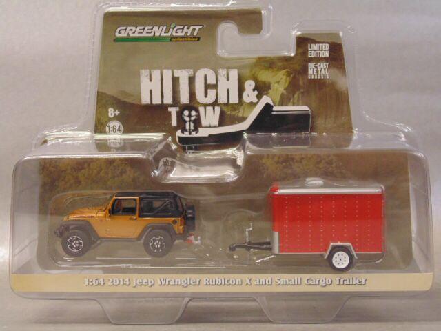 2014 Jeep Wrangler Rubicon X And Small Cargo Trailer Toy Car