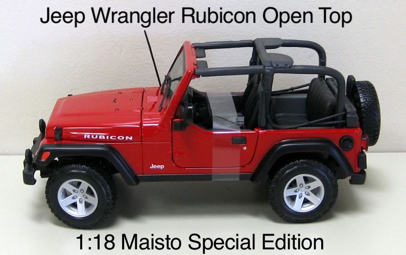 jeep wrangler rubicon open top toy car die cast and hot. Black Bedroom Furniture Sets. Home Design Ideas