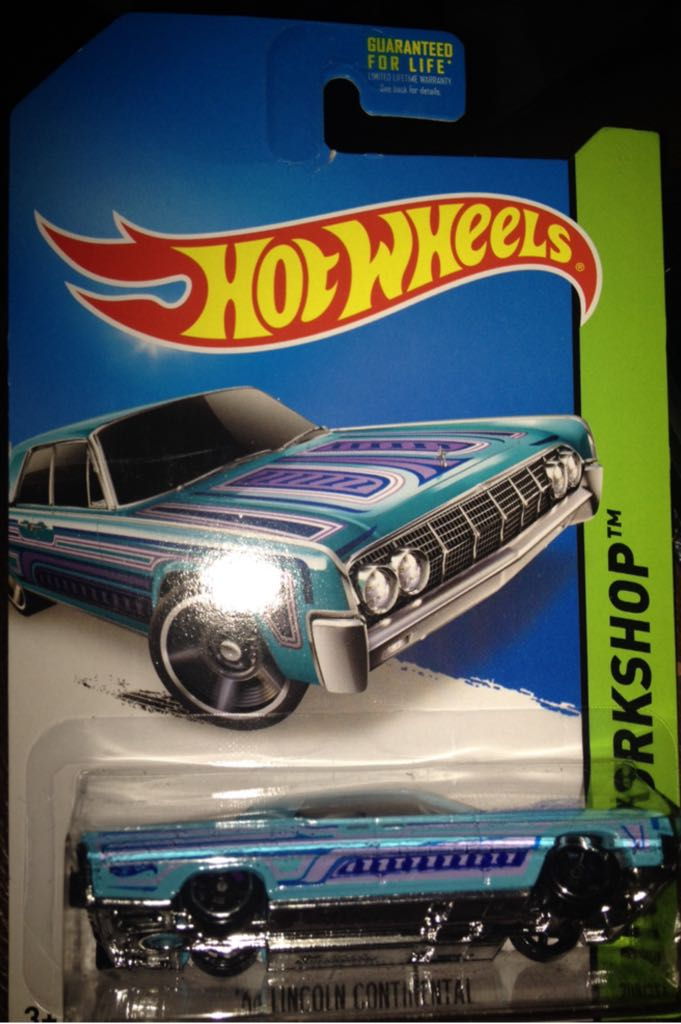 '64 Lincoln Continental (sky Blue) Toy Car, Die Cast, And Hot Wheels - '64 Lincoln Continental (1964) front image (front cover)