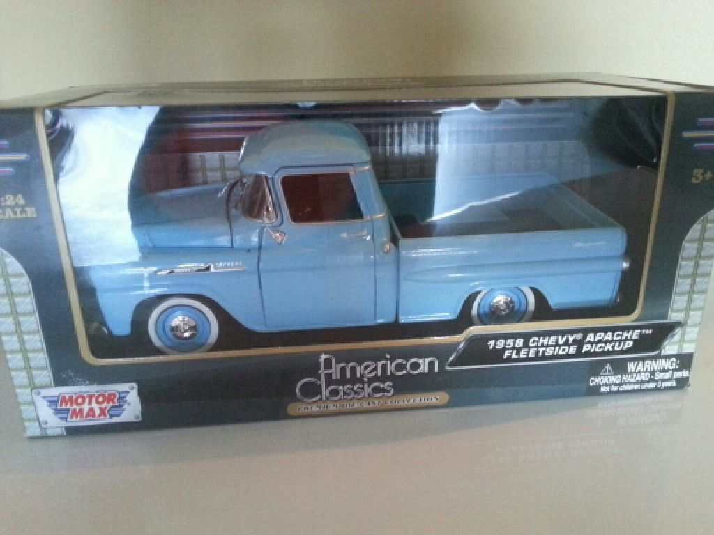 All Chevy 1958 chevy apache fleetside : 1958 Chevy Apache Fleetside Pickup Toy Car, Die Cast, And Hot ...