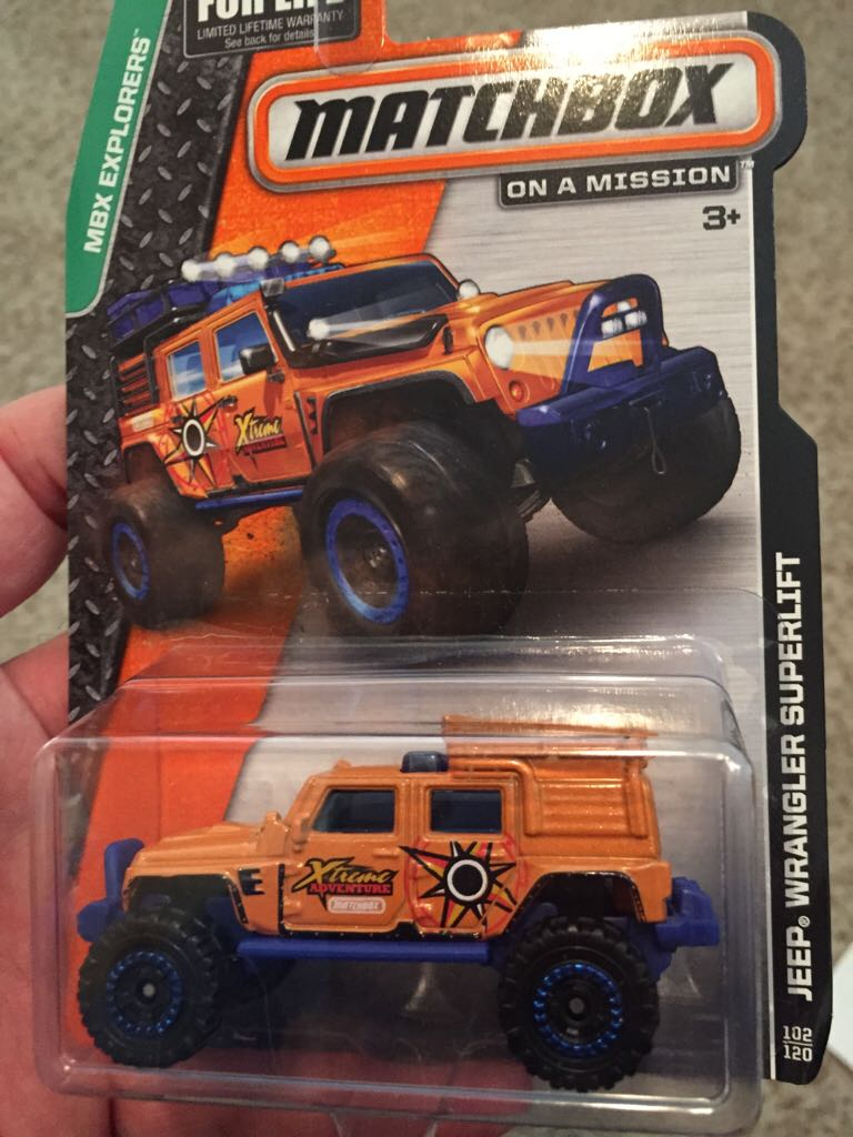 Jeep Wrangler Superlift Toy Car Die Cast And Hot Wheels