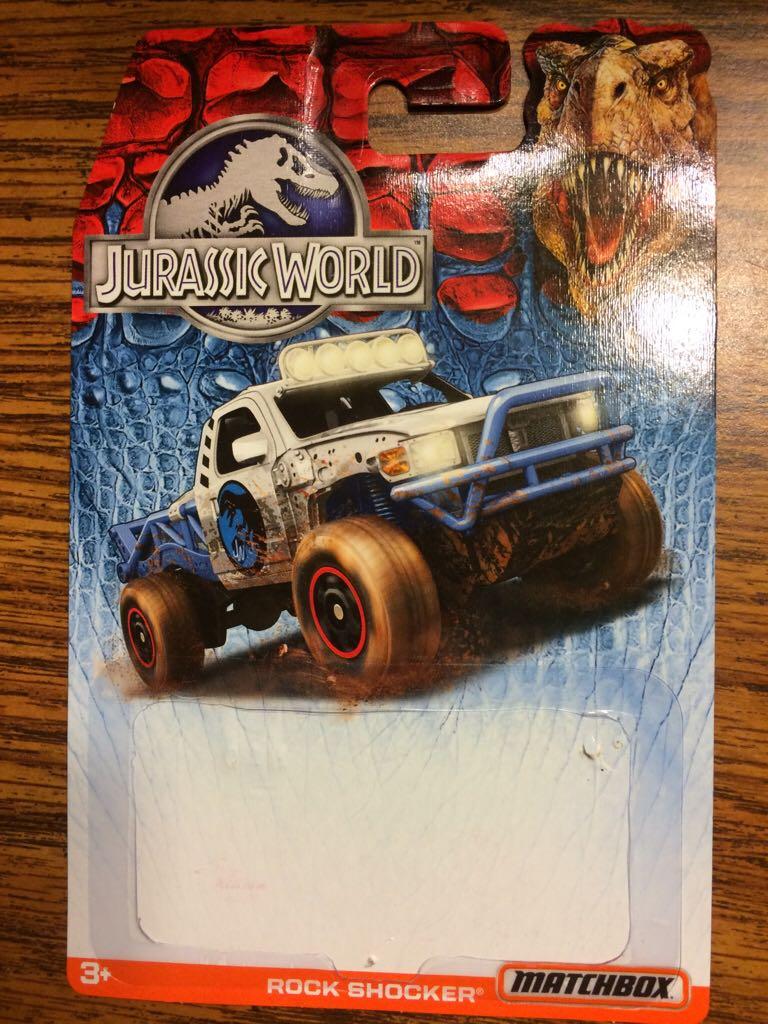 Matchbox Jurassic World Rock Shocker Toy Car, Die Cast