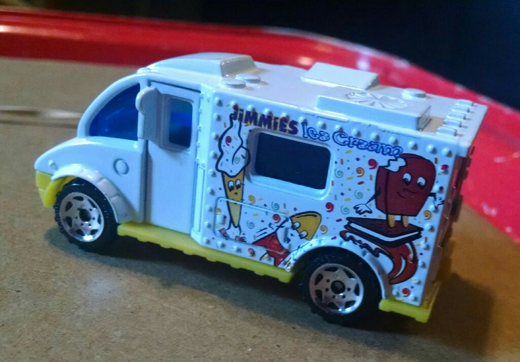 Lovely Matchbox Ice Cream Truck Jimmies Toy Car, Die Cast, And Hot Wheels Front  Image