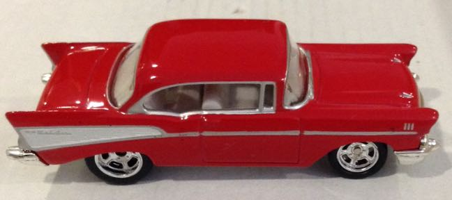 1957 Chevy Bel Air Rojo Toy Car Die Cast And Hot Wheels Chevy