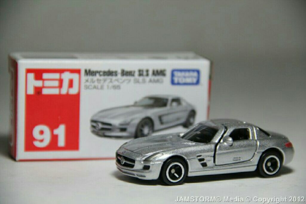 Tomica 91 mercedes benz sls amg toy car die cast and for Hot wheels mercedes benz
