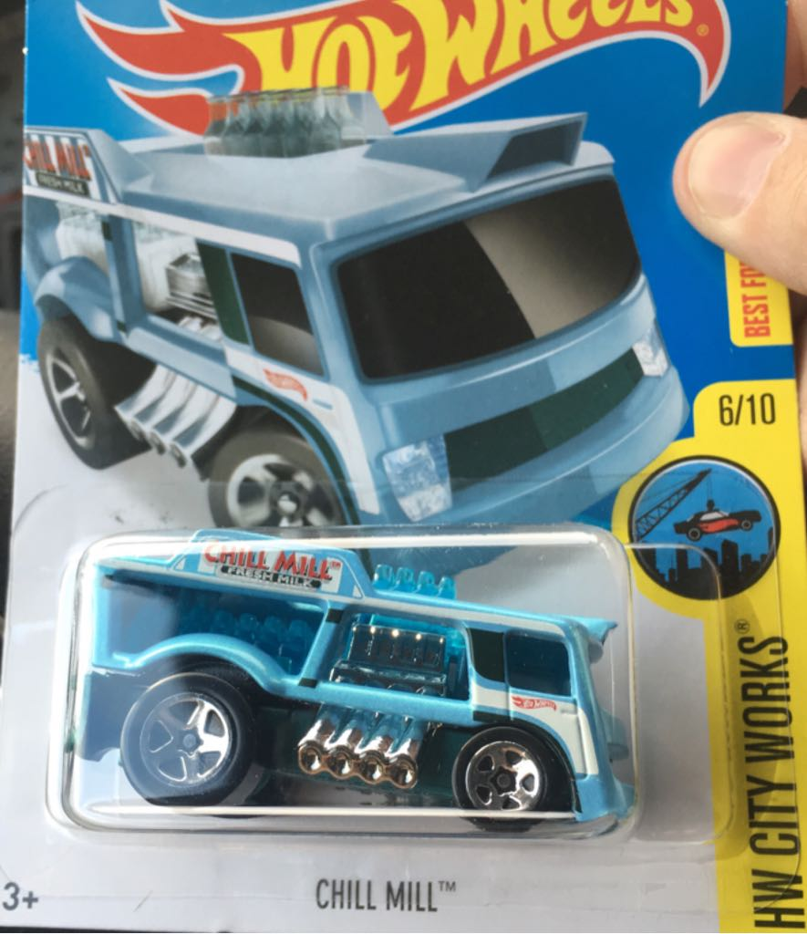 Chill Mill Toy Car, Die Cast, And Hot Wheels (2016) front image