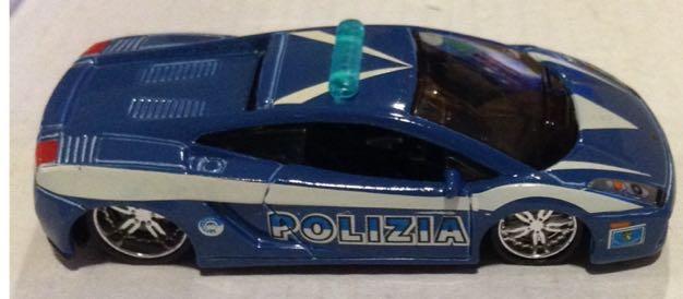 Patrulla Lamborghini Gallardo Azul Toy Car Die Cast And Hot
