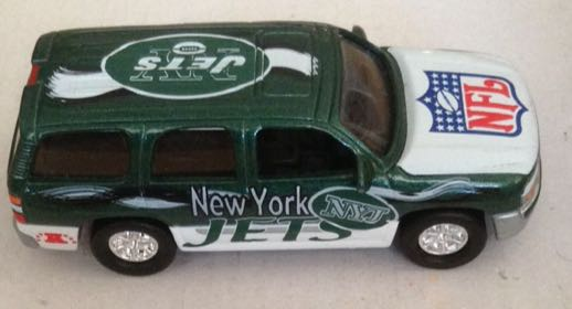 Nfl Toy Trucks : Gmc yukon nfl jets new york verde toy car die cast and