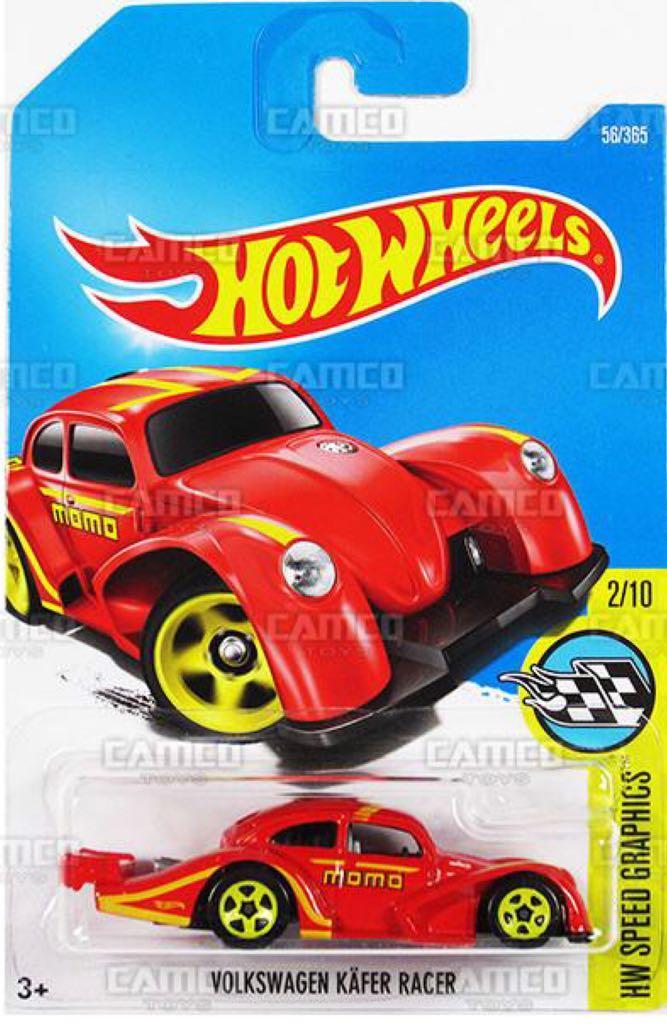 Hot Wheels Volkswagen Kafer Racer HW Speed Graphic #56//365 Momo Black