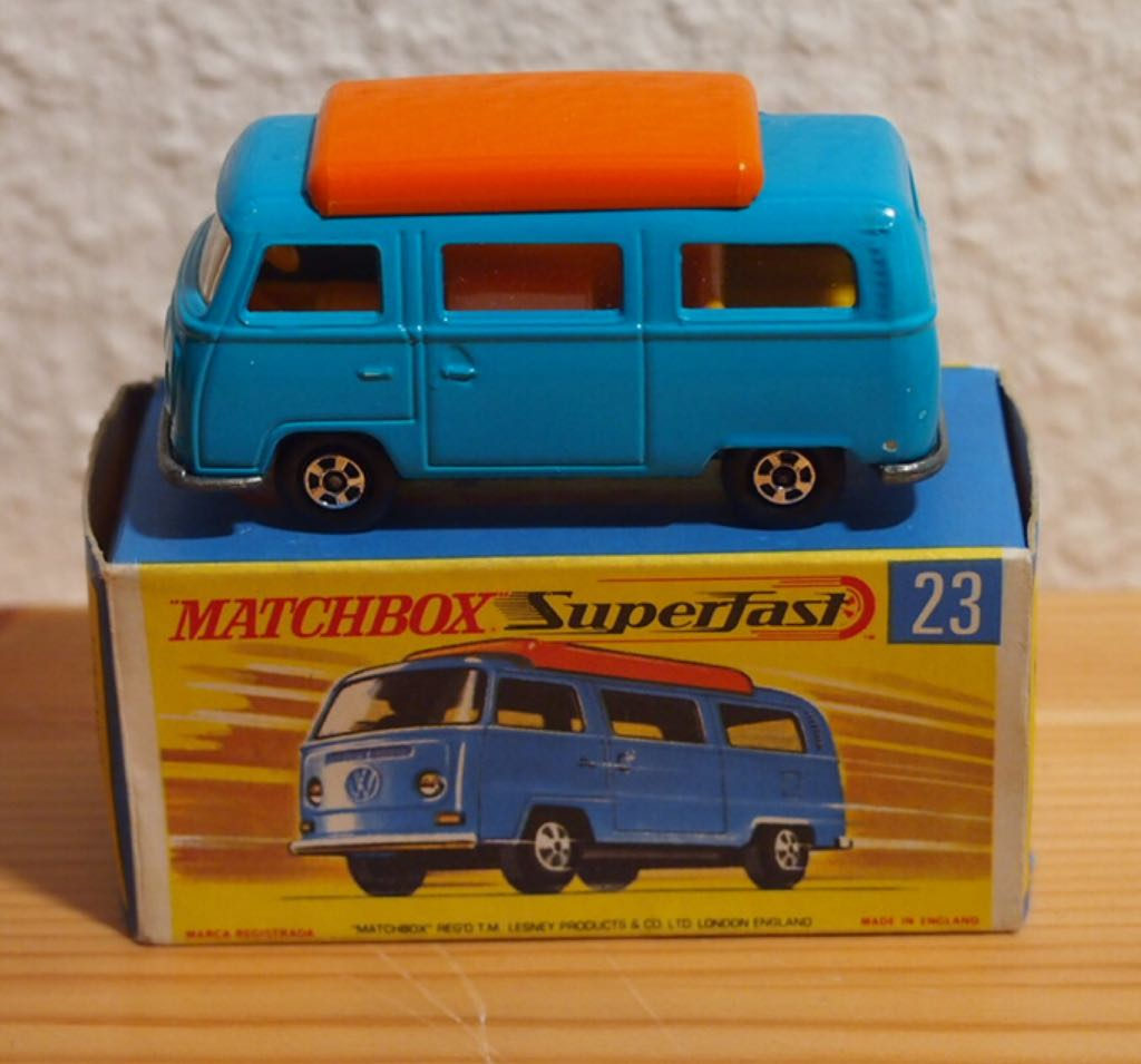 MB 23-A Toy Car, Die Cast, And Hot Wheels - Volkswagen Camper (1970) front image (front cover)