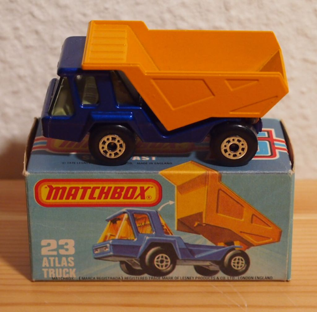 MB 23-B Toy Car, Die Cast, And Hot Wheels - Atlas (1975) front image (front cover)