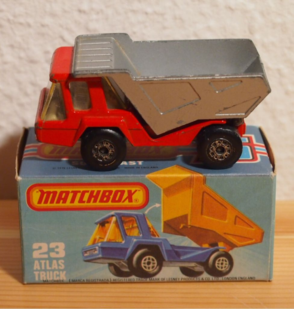 MB 23-A Toy Car, Die Cast, And Hot Wheels - Atlas (1975) front image (front cover)